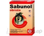 SABUNOL obroża do zwalczania i odstraszania kleszczy i pcheł u psów.