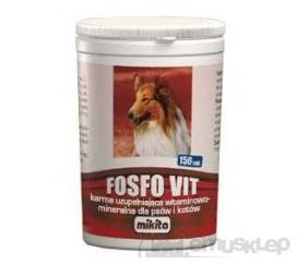 FOSFO-VIT 150 TABLETEK SUPLEMENT WITAMINOWO-MINERALNY DLA PSÓW I KOTÓW